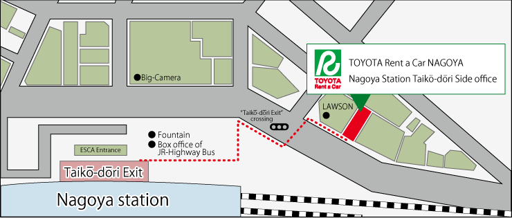 Nagoya Station Taikō-dōri Side office | TOYOTA Rent a Car NAGOYA